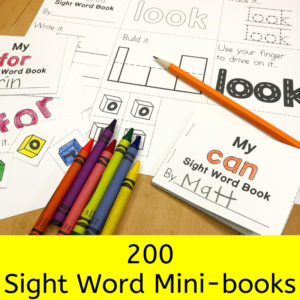 200 Sight Word Mini-books